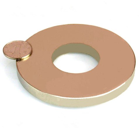 "NdFeB N52 Magnet Large Ring OD 100xID 40x10 mm thick about 4"" round Strong Neodymium Permanent Magnets Rare Earth Magnets"