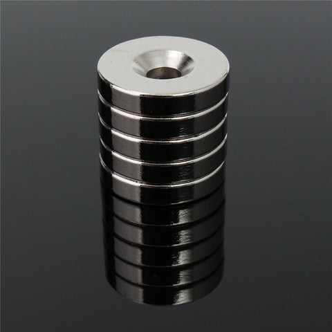 5pcs 20 x 4mm Round Neodymium Counter Sunk Ring Magnets Hole 5mm Rare Earth N50 Neodymium Magnet Neodymium Magnet