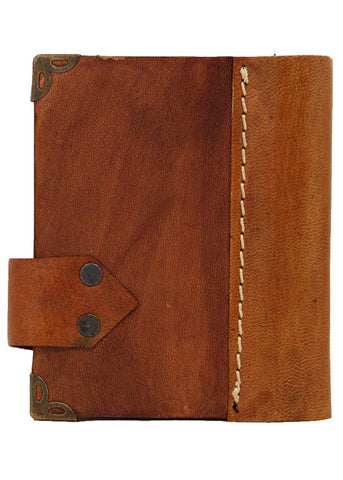 3x4 Mini Green Moon Leather Journal