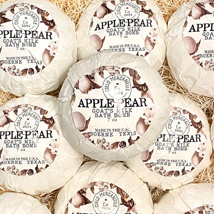 Apple Pear Goat's Milk Bath Bomb