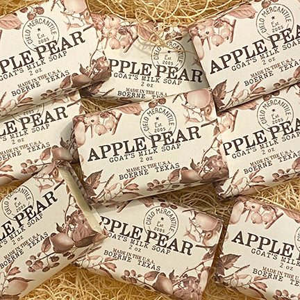 Apple Pear Goat's Milk Soap Small (2oz.)