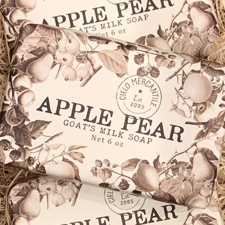 Apple Pear Goat's Milk Soap Large (6oz.)