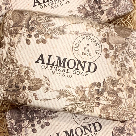 Almond Oatmeal Soap Large (6oz.)