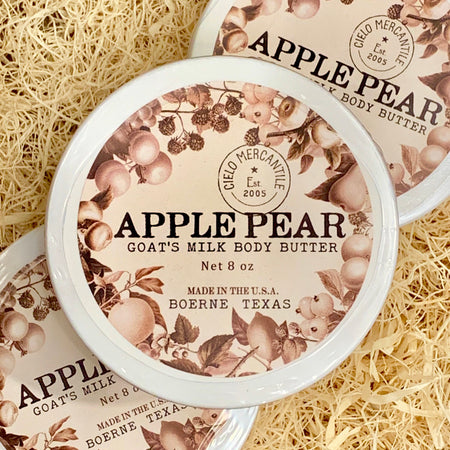 Apple Pear Goat's Milk Body Butter Large (8oz.)