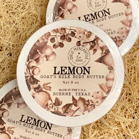 Lemon Goat's Milk Body Butter Large (8oz.)