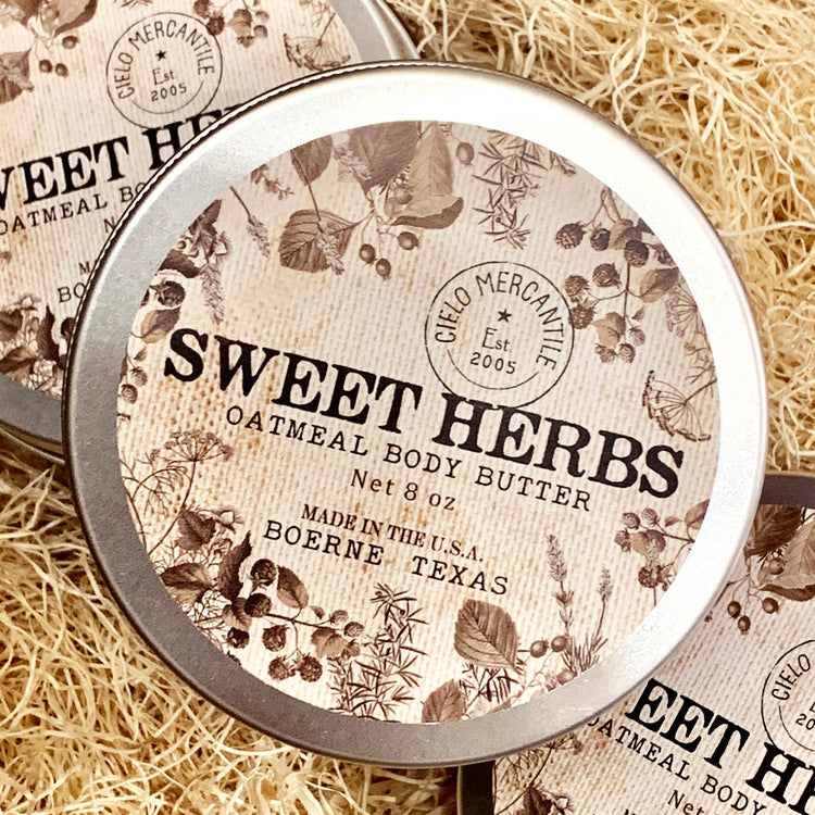 Sweet Herbs Oatmeal Body Butter Large (8oz.)