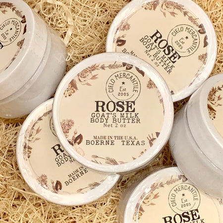 Rose Goat's Milk Body Butter Small (2oz.)