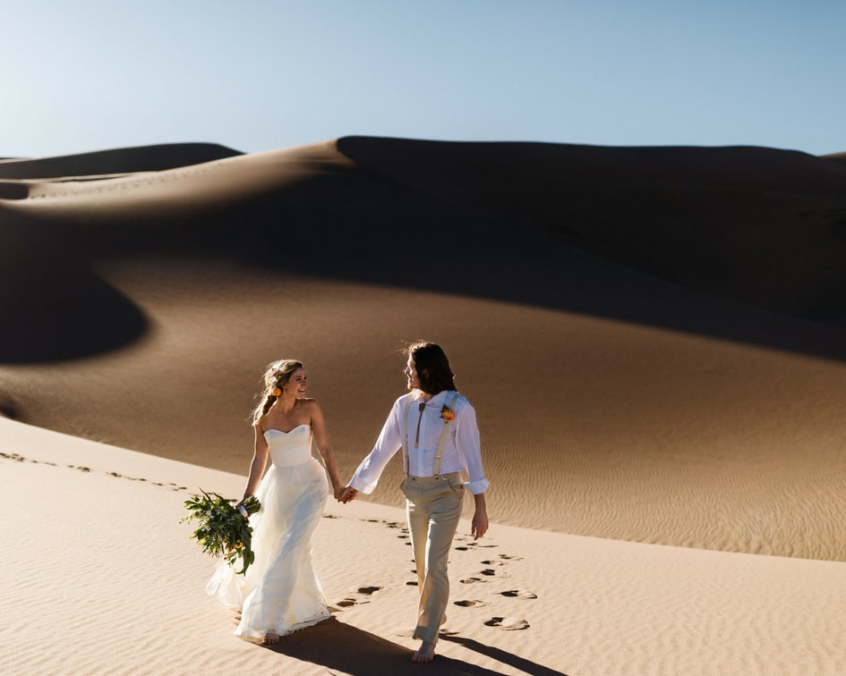Chantel Lauren wedding Dress at Colorado sand dunes