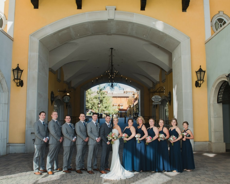 downtown vail colorado bridal party