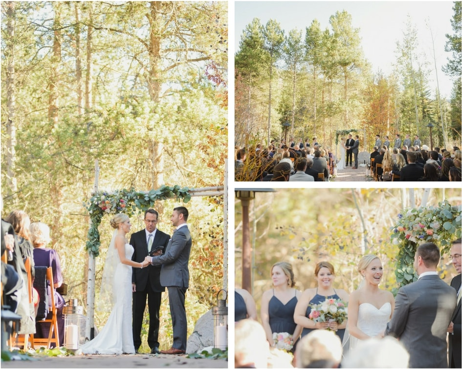 Colorado fall wedding ceremony
