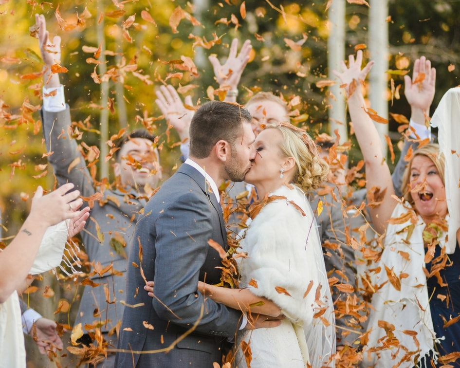 fall Colorado wedding