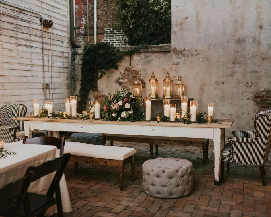 romantic wedding details at New Orleans wedding