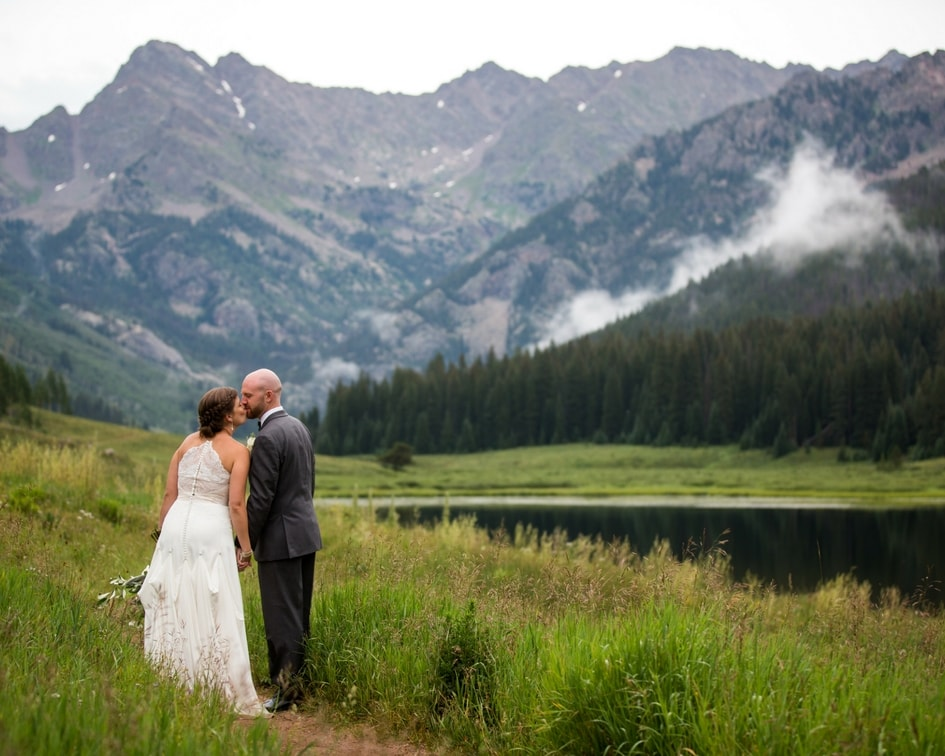 vail colorado bride and groom