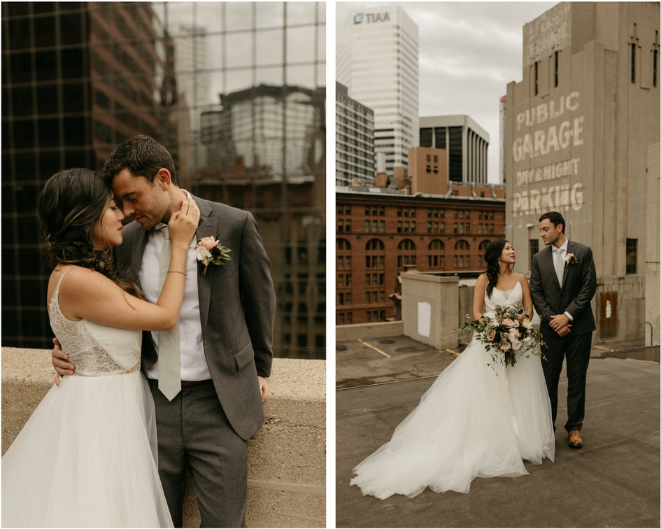 rooftop urban wedding photos