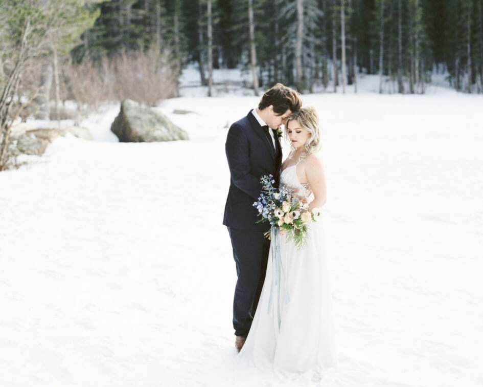 estes park winter wedding