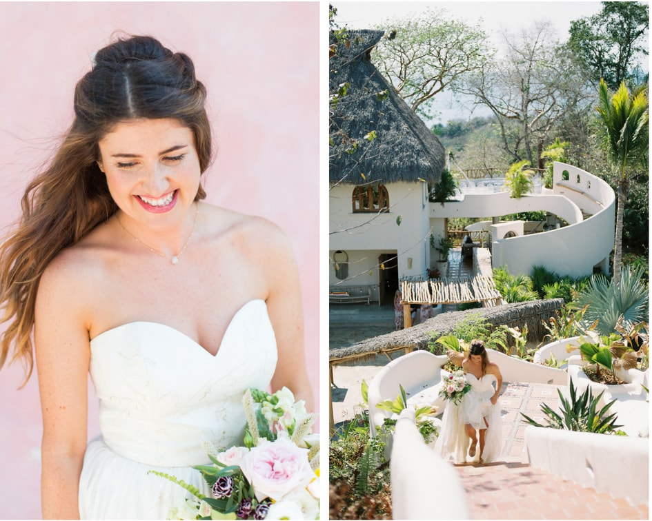 Mexico destination wedding with Leanne Marshall gown