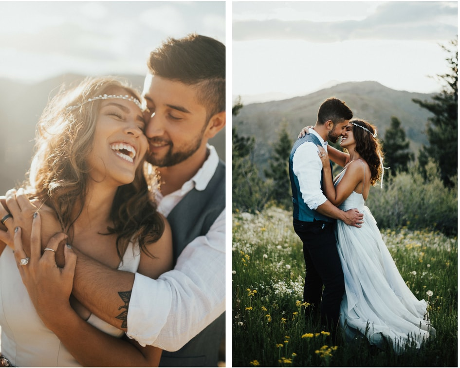 Colorado mountain wedding photos at lookout mountain