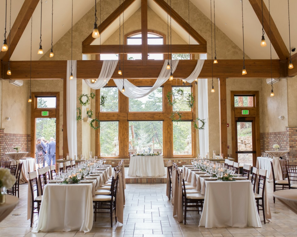 Colorado mountain wedding reception