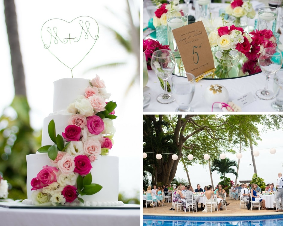 destination wedding reception details