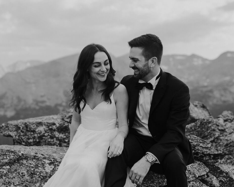 Colorado mountain wedding with leanne Marshall wedding dress