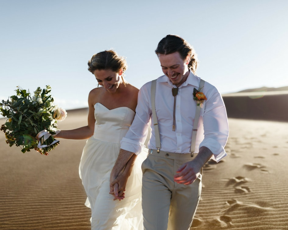 Colorado sand dunes wedding photos