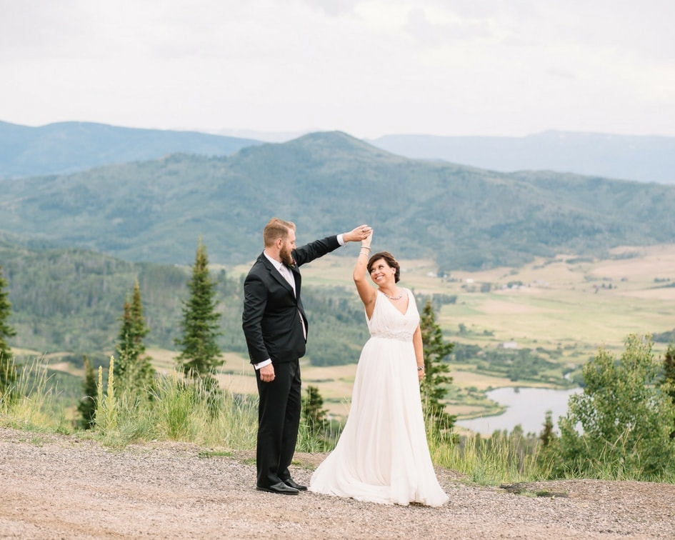 Steamboat Springs bride and groom