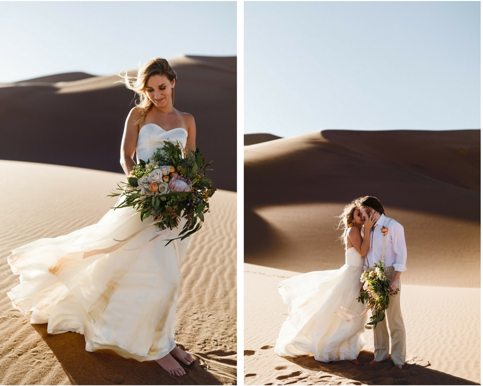 Chantel Lauren wedding gown at Colorado sand dunes