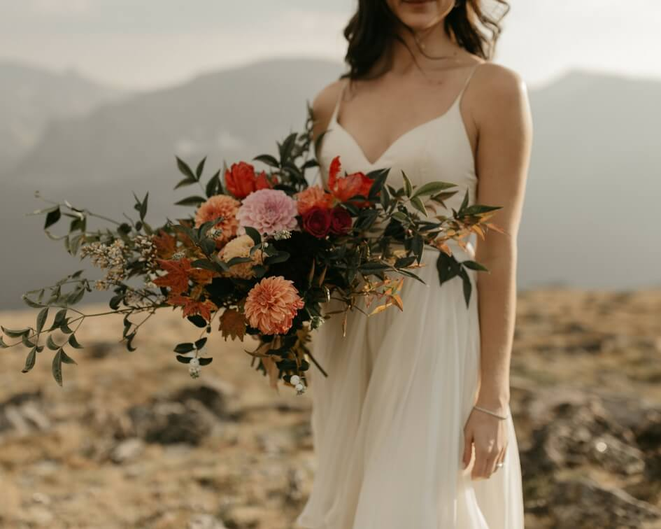 bridal bouquet for Colorado mountain wedding
