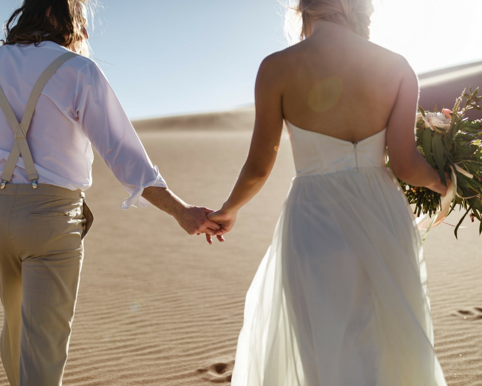 Colorado sand dunes elopement photos