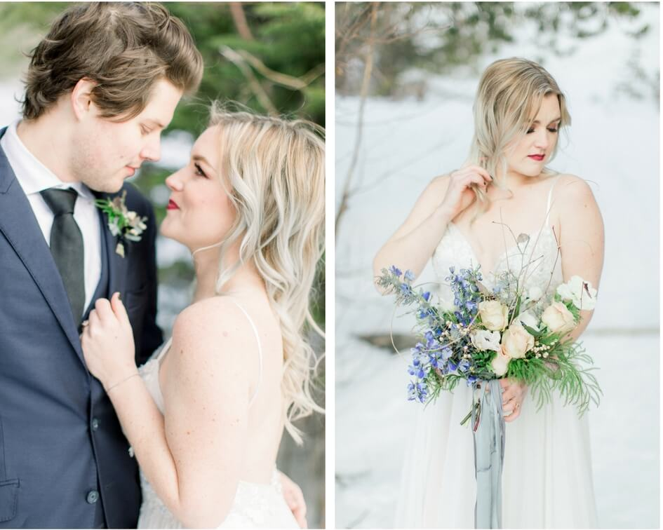 winter wedding in estes park Colorado