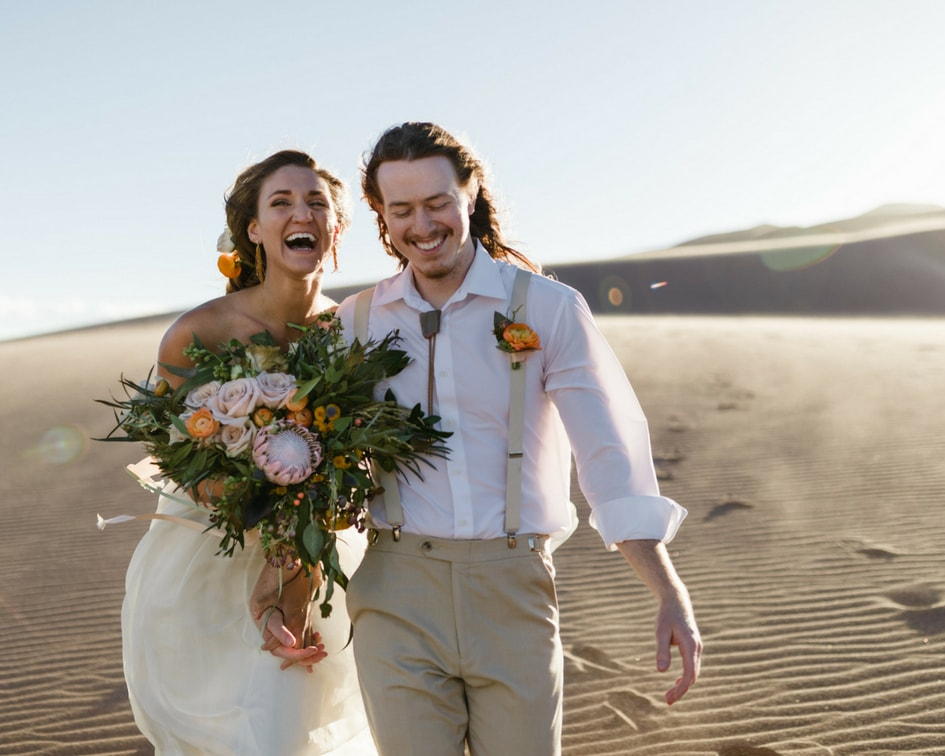 Chantel Lauren wedding gowns at Colorado sand dunes