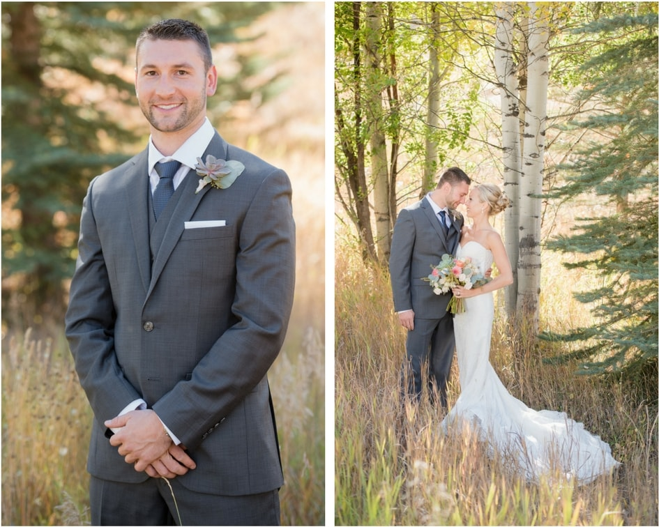 Vail colorado wedding with kelly faetanini lace wedding dress