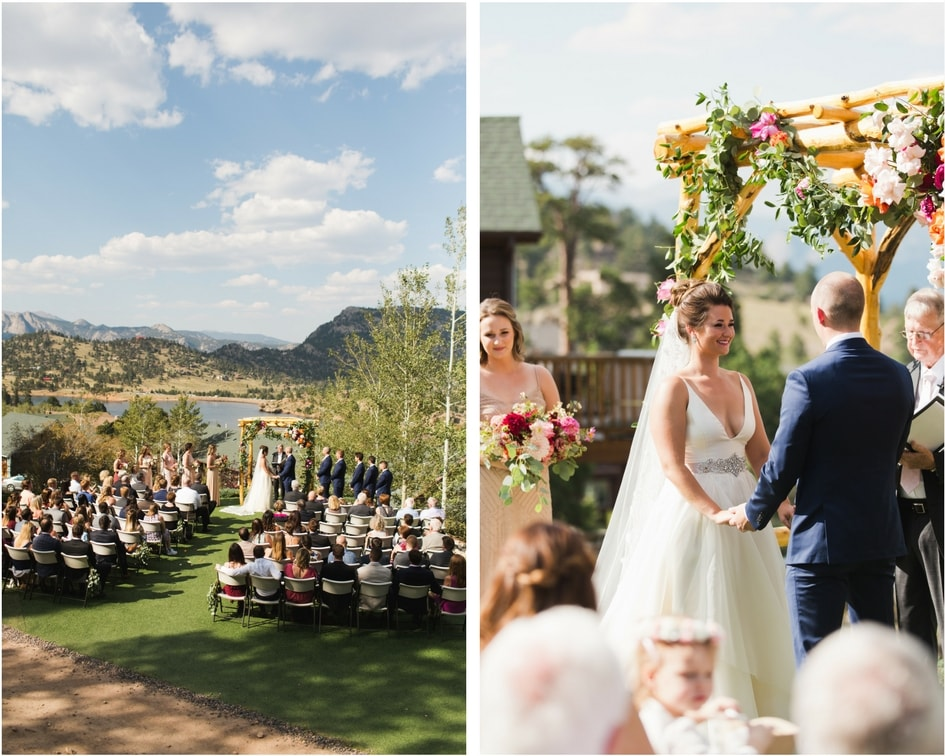 wedding ceremony in the Colorado mountains