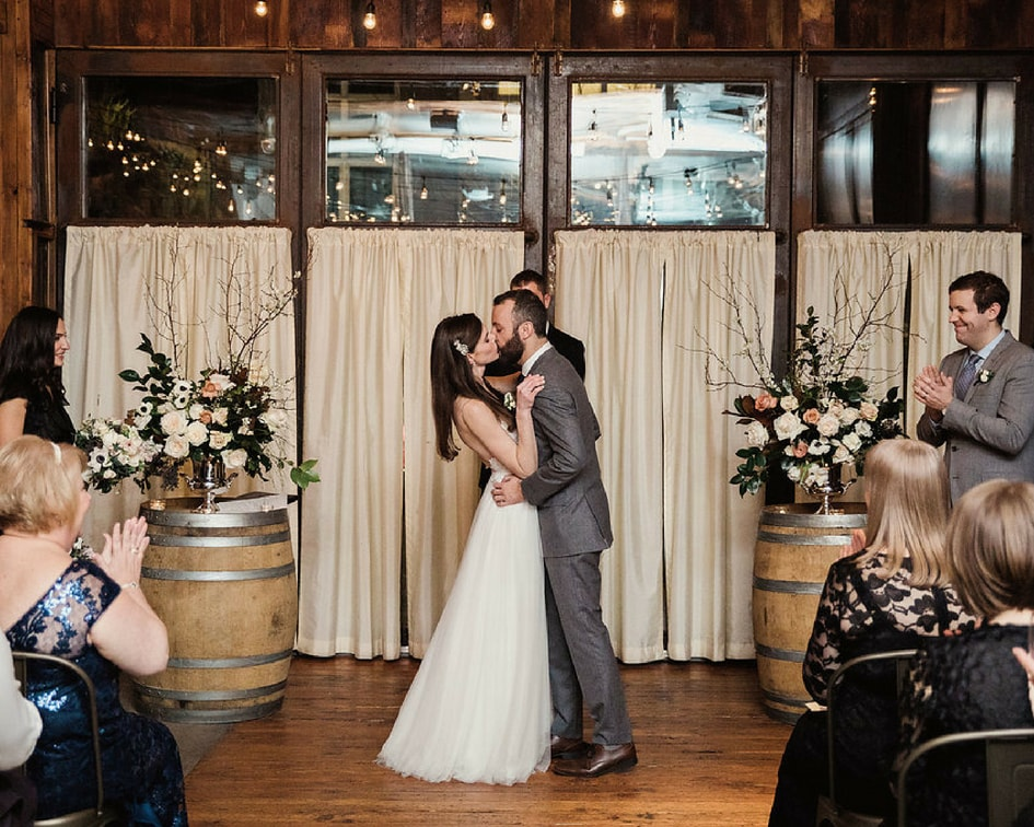 Brooklyn winery wedding ceremony