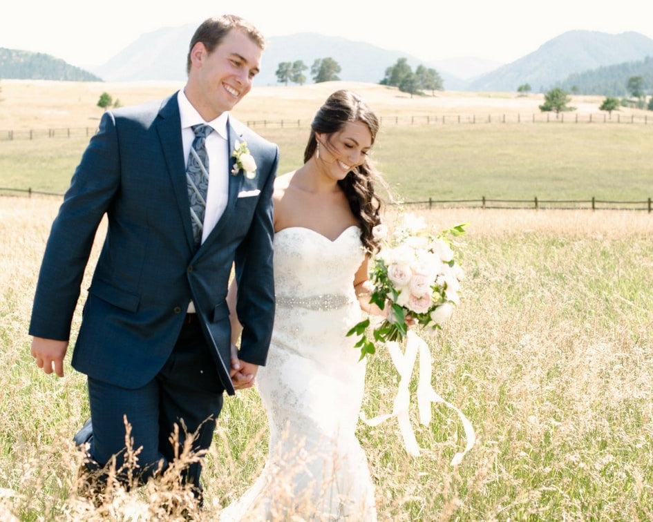 Kelly Faetanini wedding dress with belt
