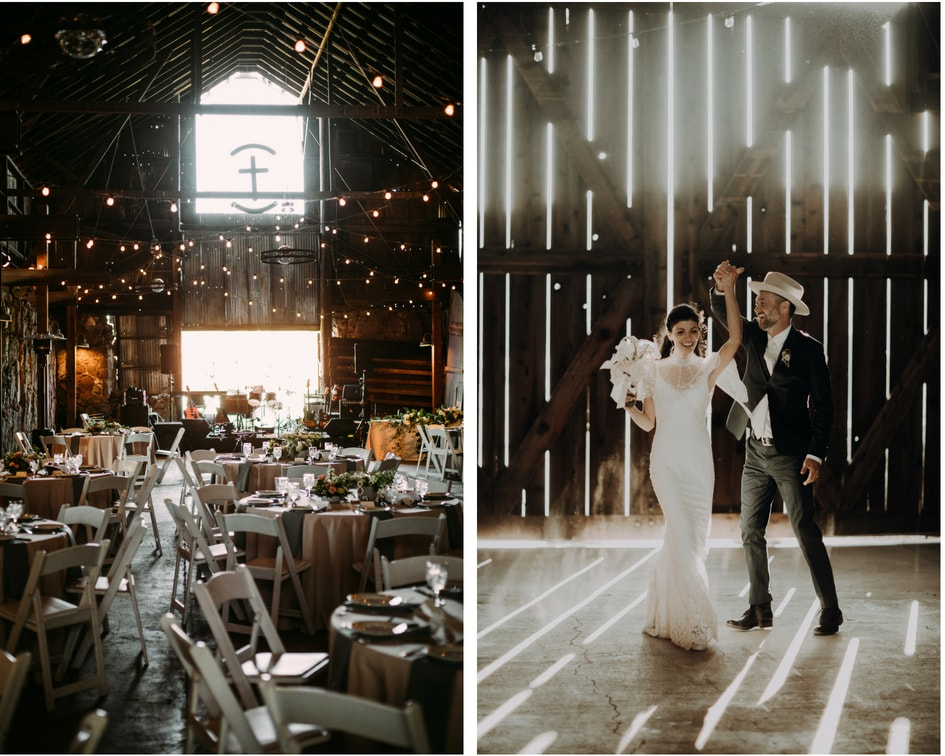 central coast California barn wedding