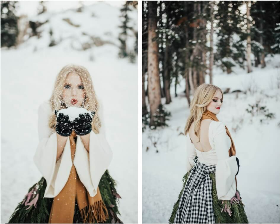 Chantel lauren winter wedding dress