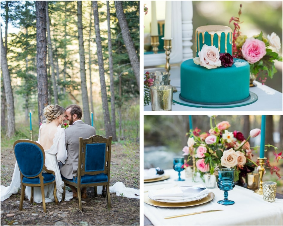 Colorado mountain wedding details