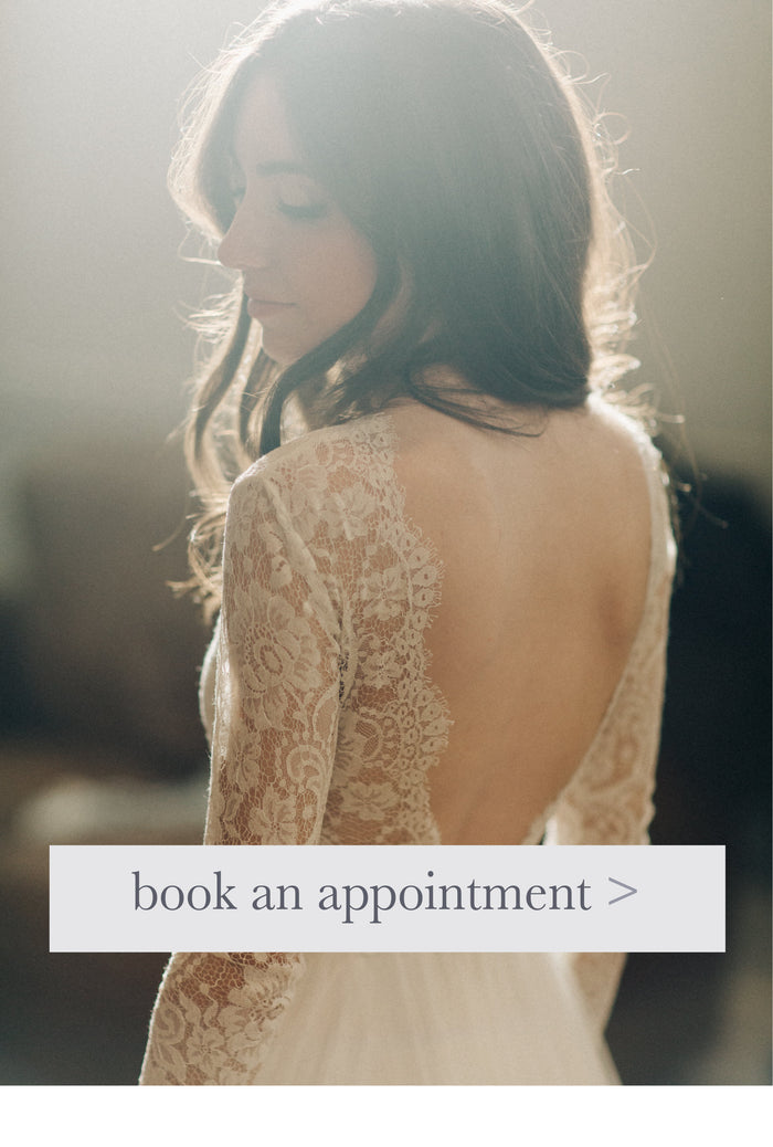 Book an appointment at our popular bridal shop