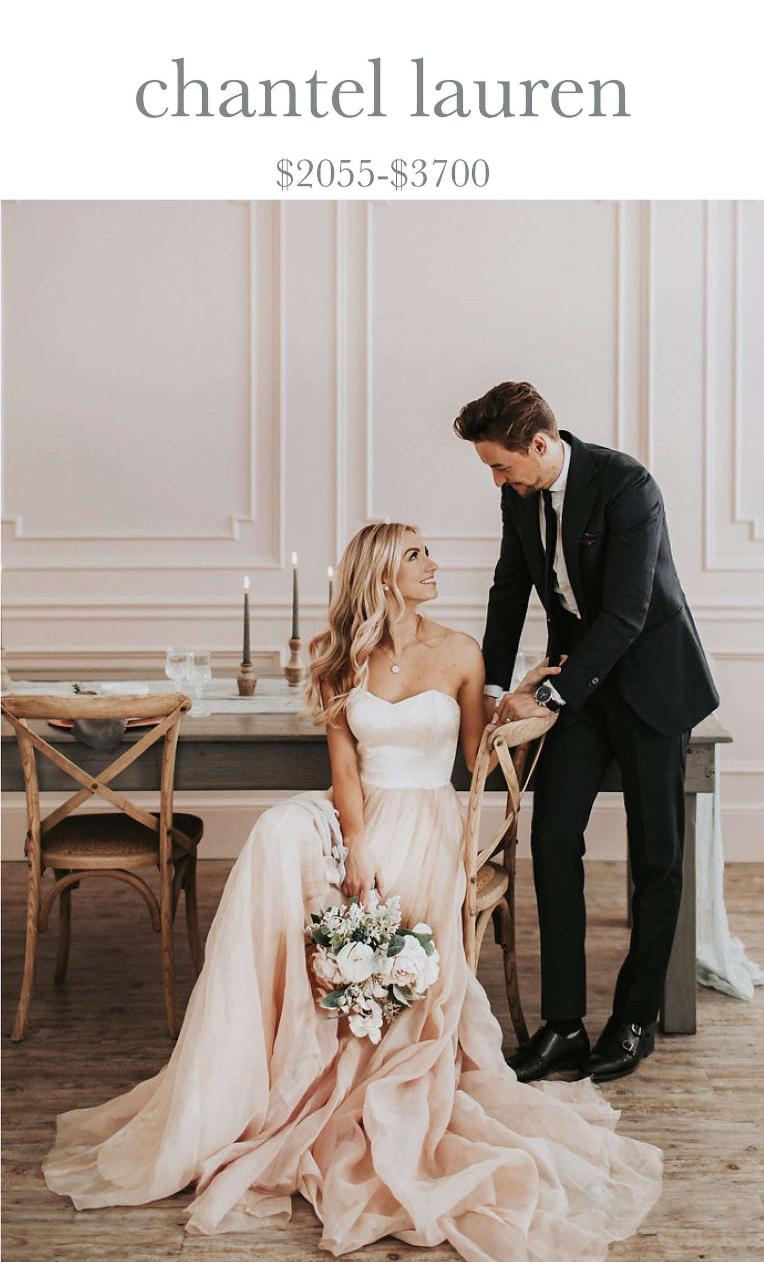 chantel lauren wedding dresses