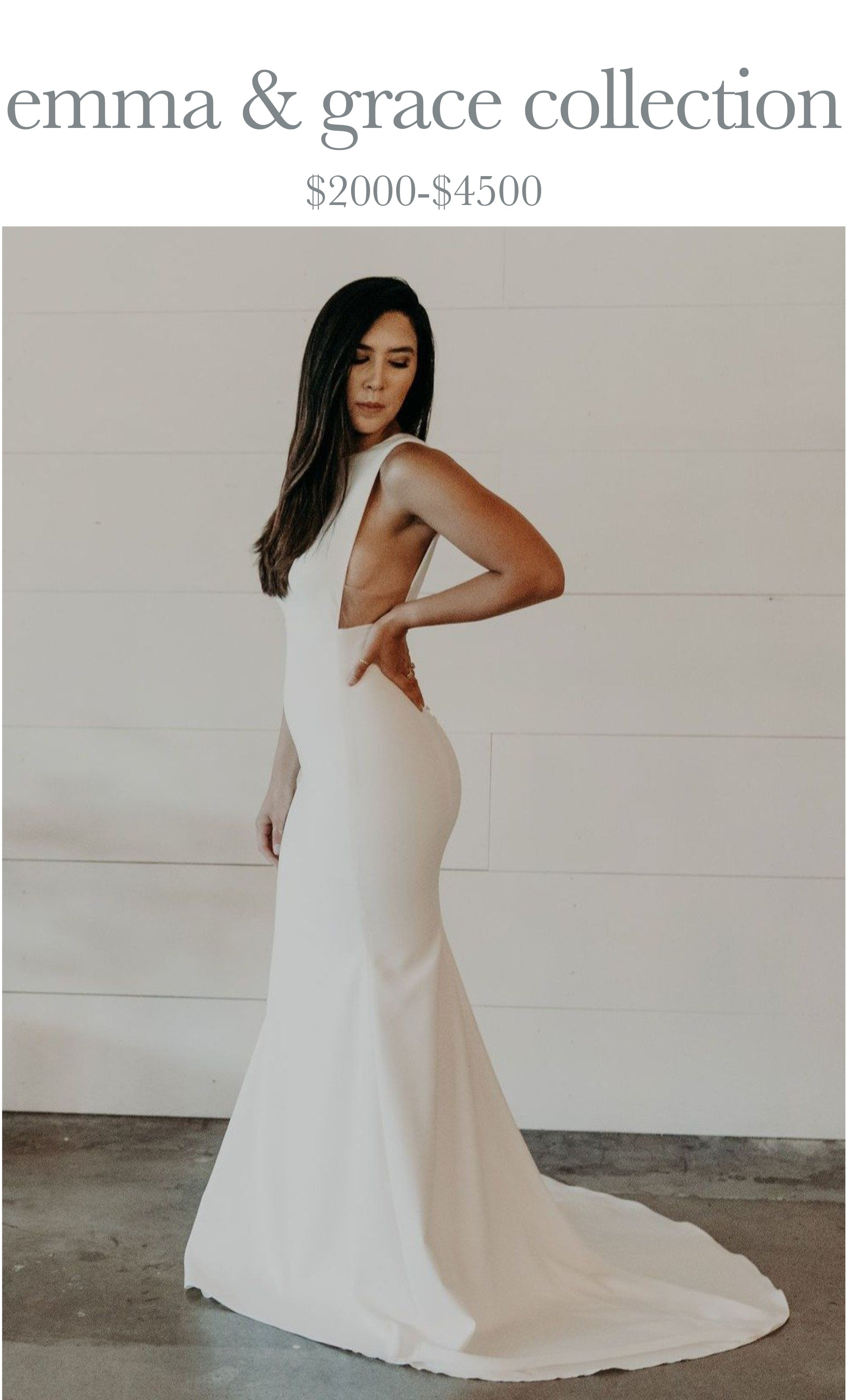 Emma & Grace Collection of wedding gowns