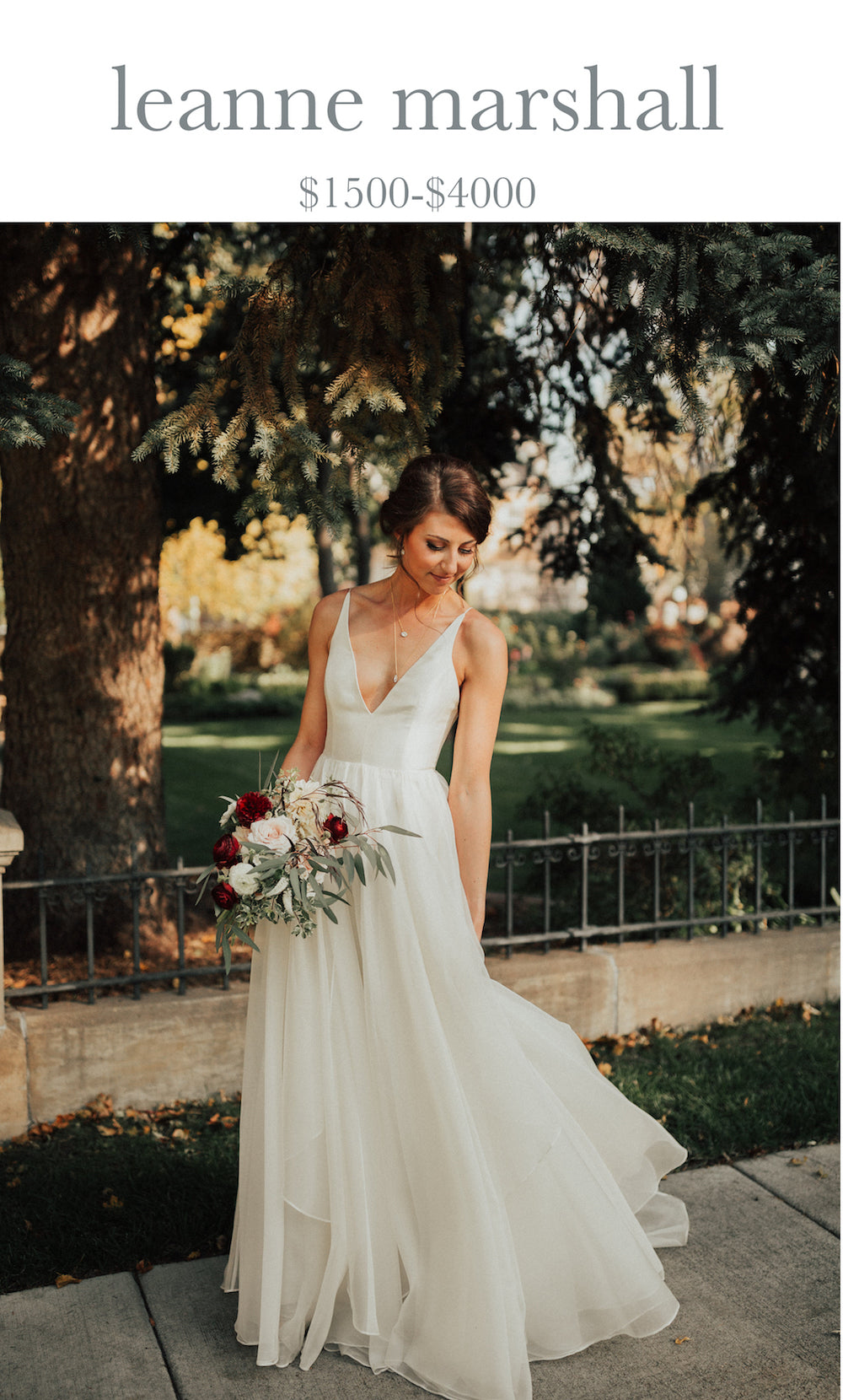 leanne marshall wedding dress store