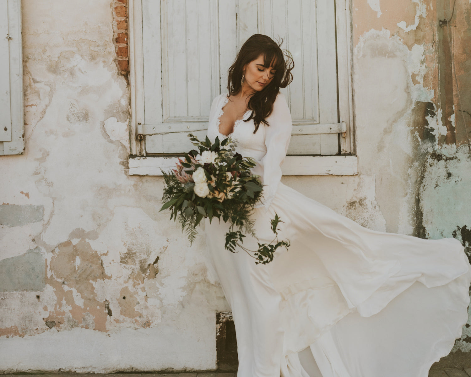 long sleeve leanne Marshall wedding Dress