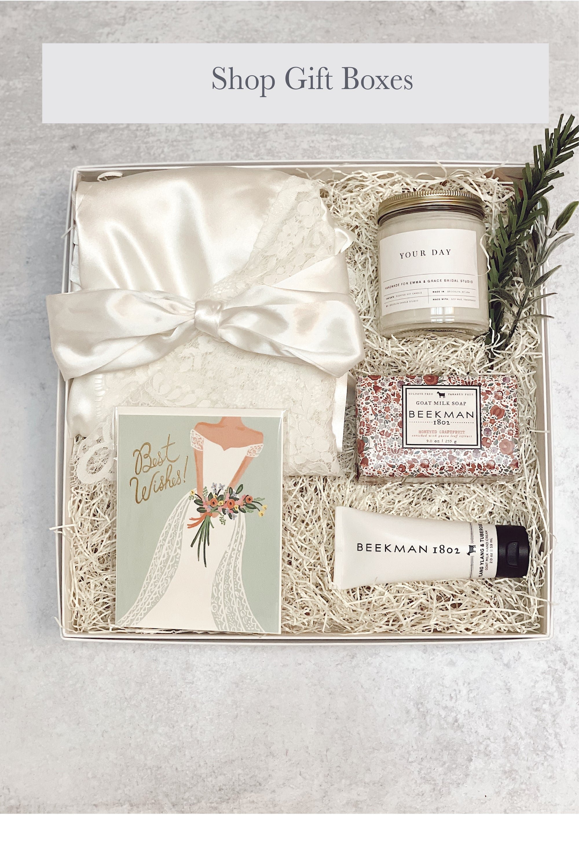 shop online store for premade gift boxes for bride and bridesmaids