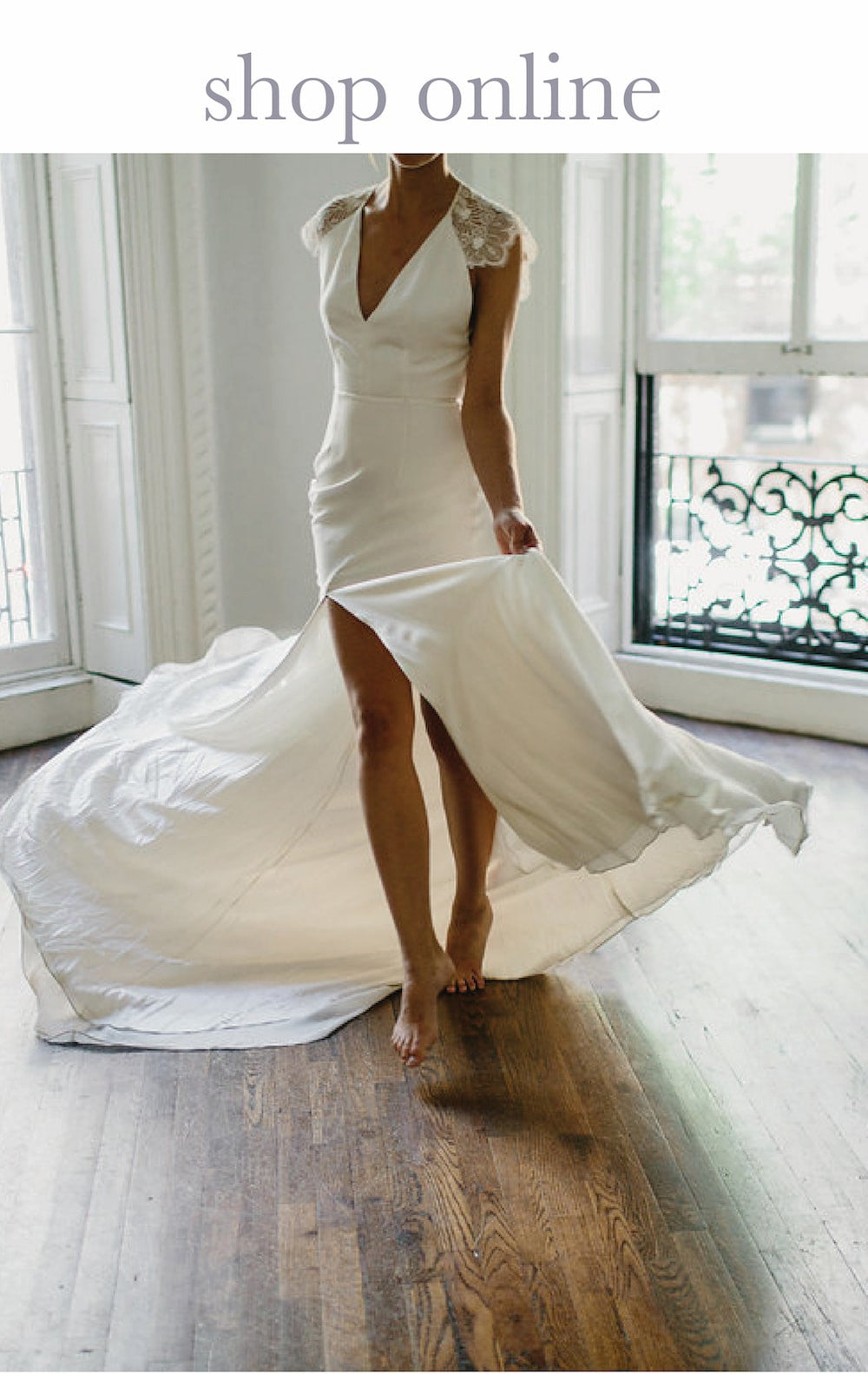 designer wedding gown by alexandra grecco
