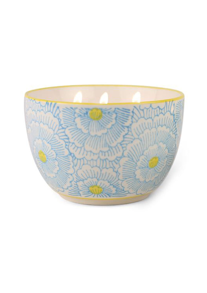 Jasmine + Bamboo Painted Bowl Candle