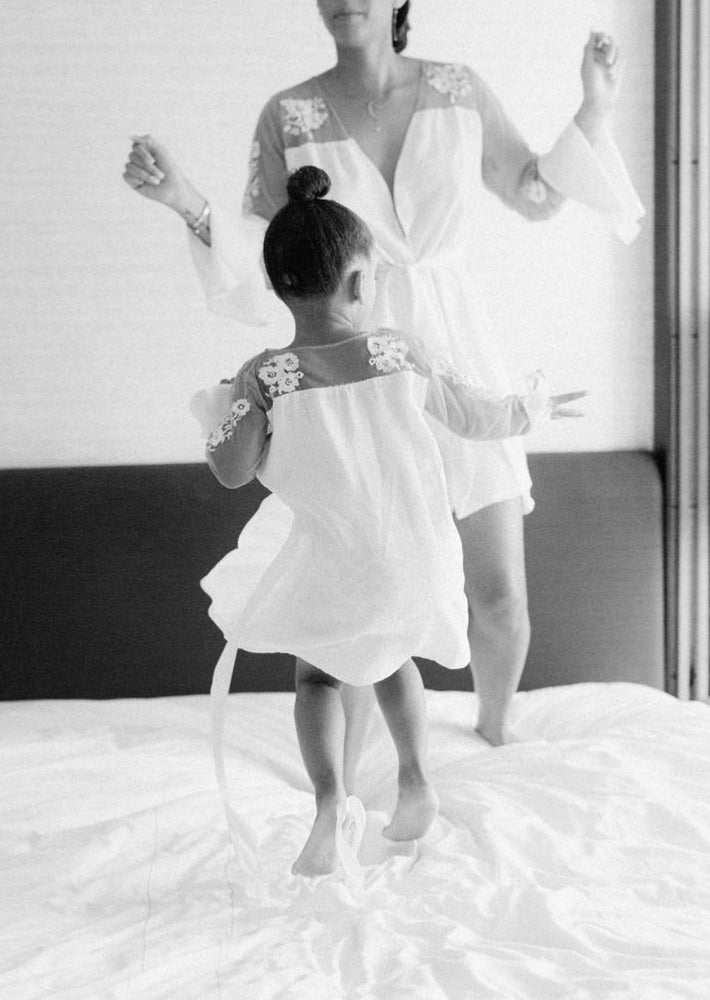 Long Sleeved Lace Flower Girl Robe