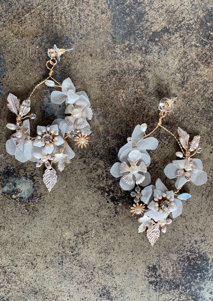 Flower & Vine Drop Earrings