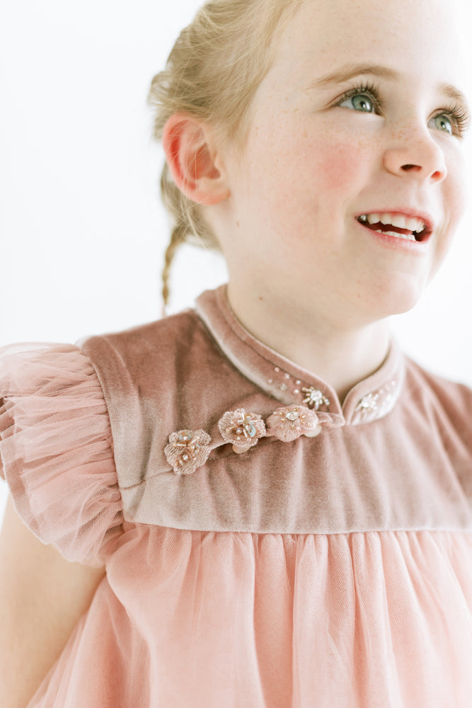 Tulle Flower Girl Dress in Pink or Snow
