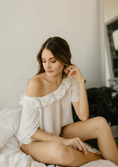white sleep shirt bridal lingerie